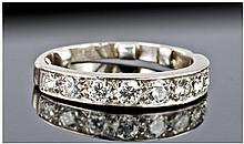 18ct White Gold Set 1/2 Eternity Diamond Ring. The
