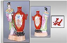 Unusual Chinese Pottery Advertising Figure,