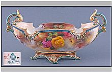 Royal Worcester Hadley Ware Hand Painted Gondola
