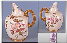 Royal Worcester Blush Ivory Helmet Shaped Handle