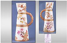 Royal Worcester Hand Painted Ivory Jug, with gold