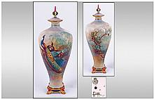 Royal Worcester Fine Hand Painted And Signed Tall