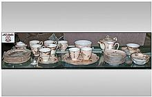 A Partial Noritake Tea Set. Comprising of Teapot,