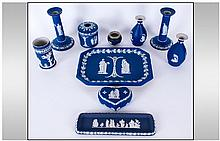 Wedgwood Late 19th Century Blue Jasper Ware. A