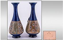 Royal Doulton Pair Of Vases, with chine ware