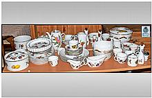 Royal Worcester Evesham Large Part Dinner Service