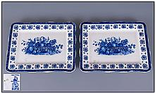 Enoch Wedgwood One Pair of Classic Trays.