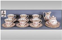 Royal Doulton 20 Piece Part Tea Set. ''Lisette''