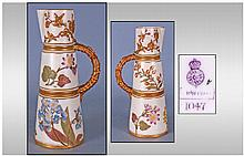 Royal Worcester Ivory And Gold Jug, spring flowers