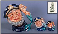 Royal Doulton Character Jugs Set Of Three. 1, Old