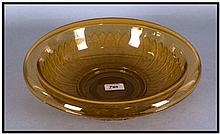 A 1930's Amber Coloured Fruit Bowl, 13 inches