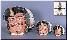 Royal Doulton Character Jugs, Set Of Three. 1,