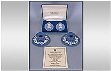 Wedgwood Royal Wedding Collection 1981. A pair of