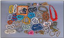 A Collection of Assorted Costume Jewellery,