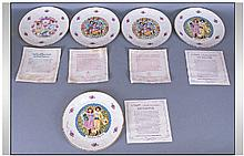 Royal Doulton 5 x Assorted Valentines Day Plates.