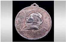 Chinese Silver Mao Medallion, depicting Mao's