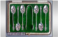 Edwardian Fine Set Of Six Silver Apostle Spoons