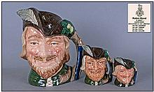 Royal Doulton Character Jugs Set Of Three. 1,
