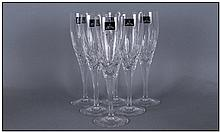 Set of Six Royal Doulton Champagne Flutes.