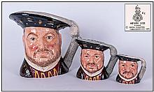 Royal Doulton Character Jugs, Set Of Three, 1.