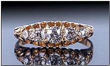 Late 19th Century 18ct Gold Diamond Ring, set with