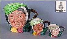 Royal Doulton Character Jugs, 3 In Total. 1,