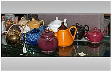 Collection of 12 assorted Various Teapots. Various