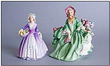 Two Porcelain Figures comprising Royal Doulton