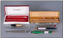 Collection Of Propelling Pencils. Comprising