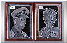 Two Royal Plaques From South Africa, Collected