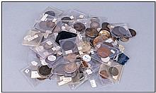 Mixed Collection Of Coins And Tokens, plus