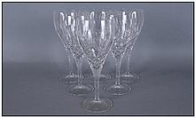 Set of Six Royal Doulton Large Wine Glasses.