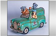 Wallace and Gromit Novelty Van Teapot. Label to