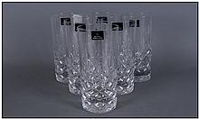 Set of Six Royal Doulton Glass Tumblers. 6''