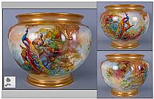 Royal Worcester Fine Hand Painted Jardinierre