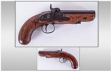 18th/19th Century Travelling Percussion Pistol,