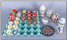 Mixed Selection Of Painted Egg, some ceramics &