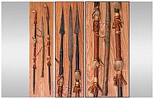 African Tribal Art. Comprising three spears. All