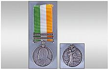 Kings South Africa Medal With Two Clasps, 1901 and