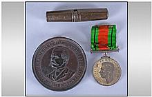 WW2 Interest. Comprising Defence Medal in Box