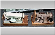 Two Cased Electric Sewing Machines, one Necchi and