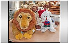 Selection of Three Cuddly Toys Including Disney