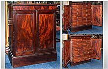 A Late Georgian Antique Mahogany Specimen