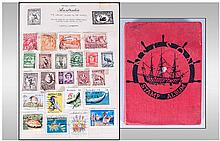 Nelson Stamp Album Containing various stamps from
