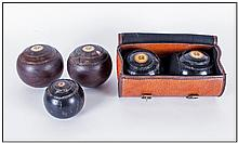 Set Of Indoor Bowls, 2 in carrying case.