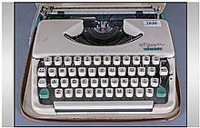 Olympia Splendid 66 Portable Typewriter, in case.