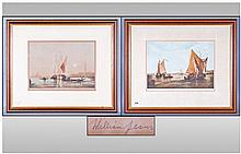 Pair Of Decorative Venetian Prints. Depicting
