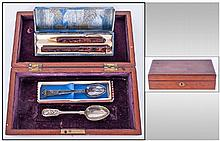 Wooden Box Containing boxed fountain pen &