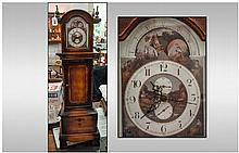 Modern Reproduction Miniature Grandfather Clock,