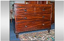 A Victorian Mahogany Chest with two short drawers